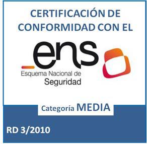 Certificado de Conformidad con el ENS